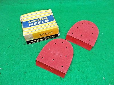 Vintage Goodyear Red Rubber Mens Boot Shoe Heels