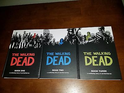The Walking Dead Hard Cover Book Lot Book 1,2 And 3. Kirman