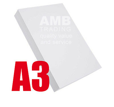 100 x A3 PREMIUM QUALITY WHITE PRINTER/COPIER PAPER 80gsm GRAPHICS/DRAWING/PRINT