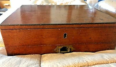 Antique Windsor & Newton Mahogany Watercolour Box