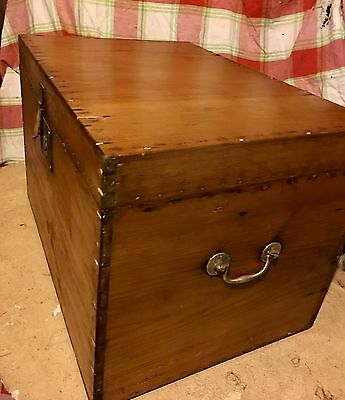 Lovely Vintage Pine Box, Good Useable Size:  51 X 33 X 36 Cms