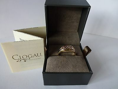 Clogau Welsh Gold, 9ct Rose & Yellow Gold Queen Eleanor Ring, size M