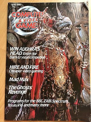 computer and video games magazine - Vintage Magazine from May 1983 Vgc