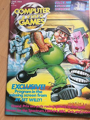computer and video games magazine - Vintage Magazine from June 1984 Vgc