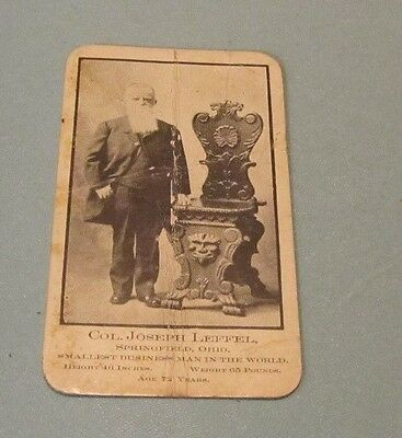 1890's Colonel Joseph Leffel Poultry and Pets Advertising Card Springfield Ohio