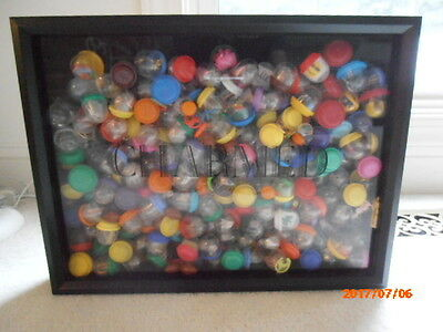 Hand Crafted Gumball Charm Shadow Box Filled With Dozens Of Toy Prizes!  Look!