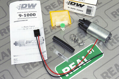 DeatschWerks 9-309-1008 340LPH Compact Fuel Pump w// mounting clips w//Install Kit