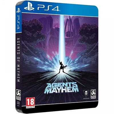 Agents Of Mayhem Day One Steelbook Edition PS4 Game - Brand New!