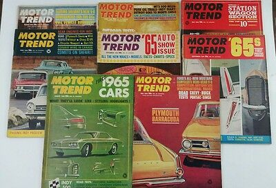 Motor Trend 1964 Lot of 8 Vintage Classic Hot Rod Car Magazines