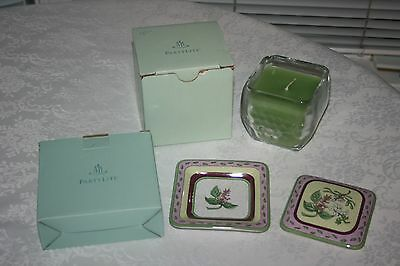 Partylite Fusions Decorative Topper & Tray & Lime Cilantro Candle NIB