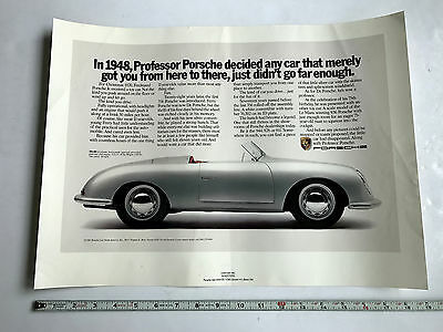 1985 Porsche  Factory Advertising Show Room Poster 356 Original