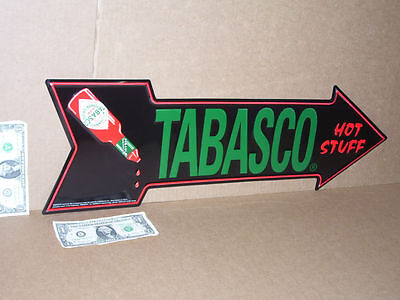 TABASCO SAUCE Avery Island Louisiana ARROW SHAPE Sign -Points to FOOD in Kitchen