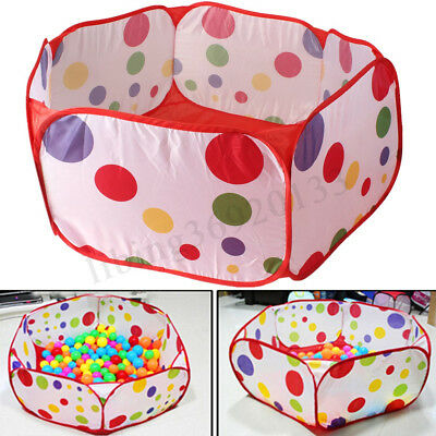 Portable Kids Toy Ocean Ball Pit Pool Indoor Outdoor Baby Game Play Tent Hut 1M