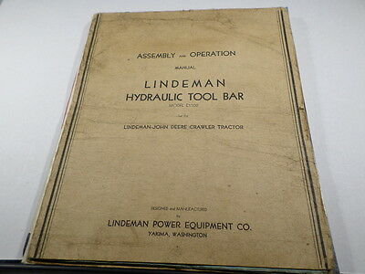 Lindeman John Deere Hydraulic Tool Bar Manual