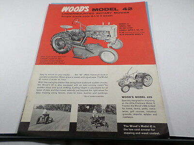 Woods Model 42 Undermounted Rotary Mower For IH Farmall Tractors
