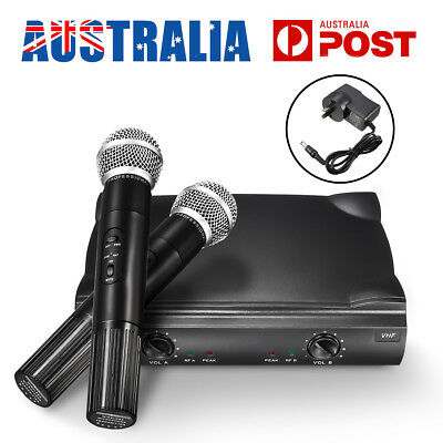Wireless Bluetooth Handheld KTV Karaoke Mic Microphone Speaker 2 MIC Receiver