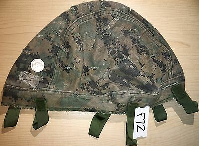 Usmc Reversible Helmet Cover Marpat Woodland/desert Medium/large Used (F72)