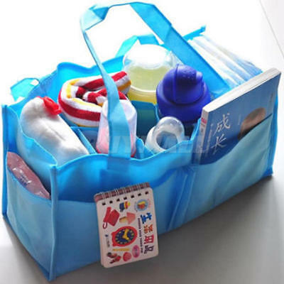 Baby Organizer Bag Portable Diaper Nappy Bottle Divider Storage Pouch 3 Colors
