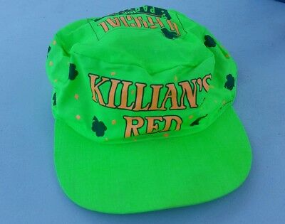 Killian's Red 1991 Coors Brewing Neon Green Hat St. Patricks Day
