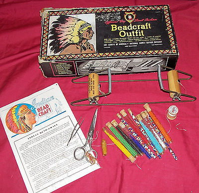 Old Boy Scout Official Indian Beadcraft Outfit Scouting Vintage Scouts Craft Kit