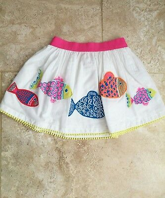 NEW Boden fish applique detail skirt age 18-24 months