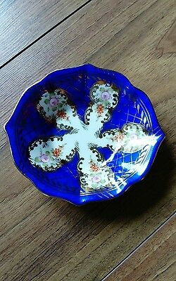 antique continental porcelain pin tray