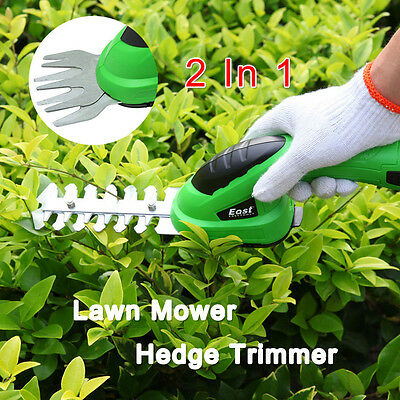 New Lawn Mower Cordless Grass Shear Rechargeable Hedge Trimmer Garden Power Tool