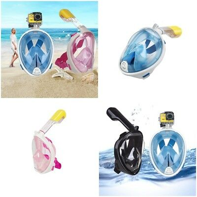 180° Breath Full Face Mask Surface Diving Snorkel Scuba for GoPro Swim Tools