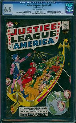 Justice League of America # 2  Slave Ship of Space !  CGC 6.5 scarce book !