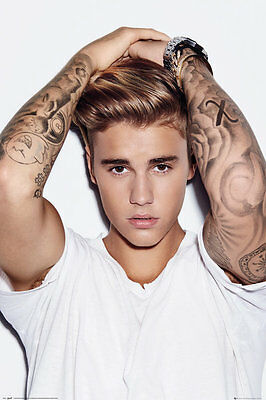 Justin Bieber White 91.5X61Cm  Maxi Poster New Official Merchandise