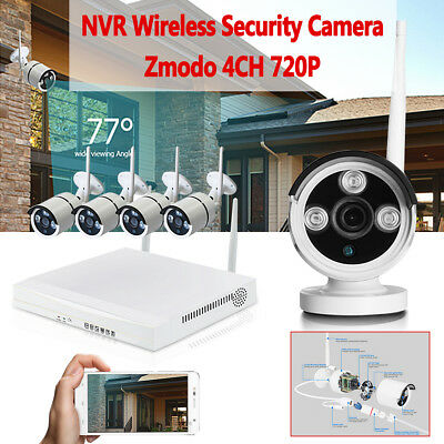 720p HD Wireless IP Camera Security Video Surveillance 4CH WIFI NVR System Home