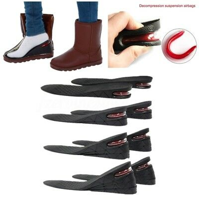 1 Pair Unisex Shoe Lift Height Increase Heel Insoles Taller Air Bubble Cushion