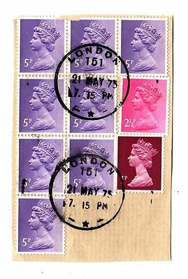 LONDON 1975 Skeleton Postmark STAMPS Elizabeth II