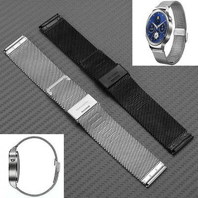 22mm Quick Release Mesh Stainless Steel Wrist Band Strap For Huawei Smart Watch