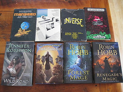 Lot of 8 HC science fiction fantasy books good condition