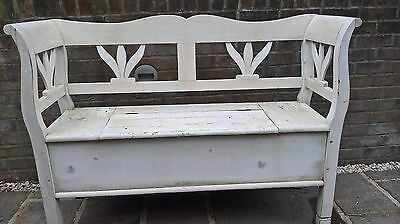 Wooden Storage Bench Seat - needs some work / repair - for inside, but could be