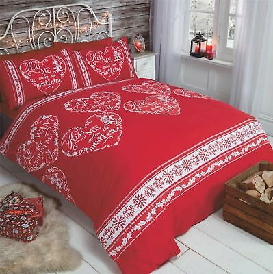 All I Want For Christmas Festive Red Script Quote Funny Bedding Duvet Set