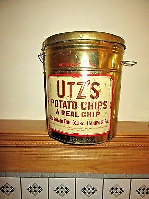 Awesome Original Vintage Utz's Extra Large Potato Chip Can