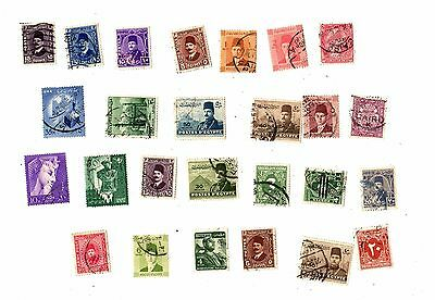 EGYPT Vintage Stamps Postally Used POSTMARKS