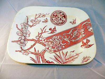 "Antique R Hammersley & Son ""Pandora"" Transfer Platter 1896-97~ Beautiful!"
