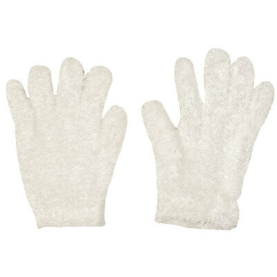 Polar Wear Girls White Solid Color Fuzzy Soft Texture Winter Gloves