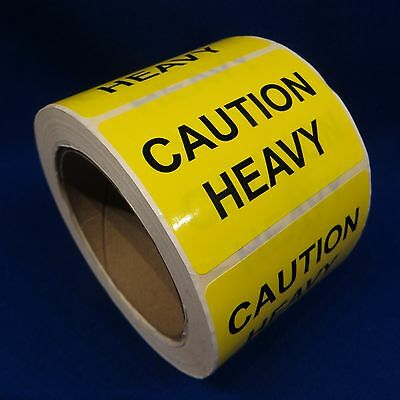 """Caution Heavy 2""""x3"""" - Packing Shipping Handling Warning Label Stickers"""