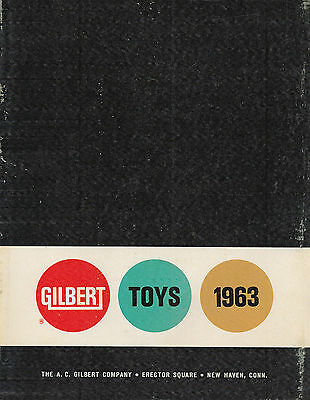 Gilbert Vtg 1963 Catalog Of Toys, Erector Set, American Flyer Trains, Airplanes