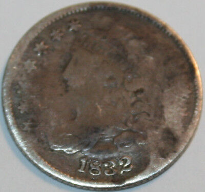 1832-P Capped Bust Half Dime [SN02]