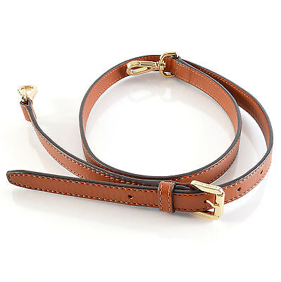 Michael Kors Replacement Shoulder Strap Luggage Brown Leather Purse Strap 43""