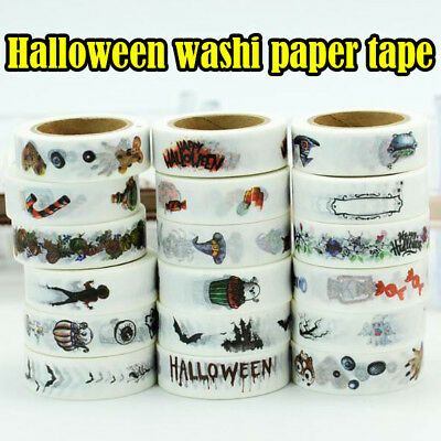 HOT 10m halloween washi paper tape handmade craft scrapbook gift wrap home decor
