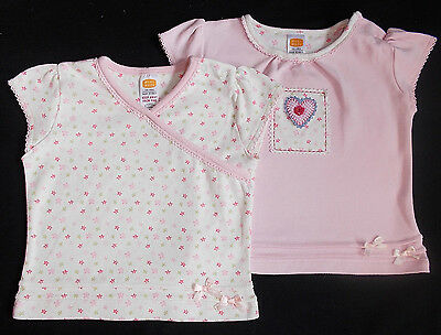 Mini Mode t shirts x2 baby girl cotton 3-6 months BNWOTS