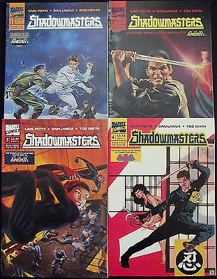 SHADOWMASTERS 1,2,3,4...VF/NM...1989-90...Punisher...Dan Lawlis...Bargain!