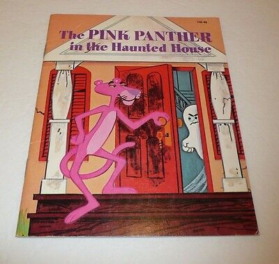 The Pink Panther in the Haunted House Children's Book VTG 1975 Golden Halloween