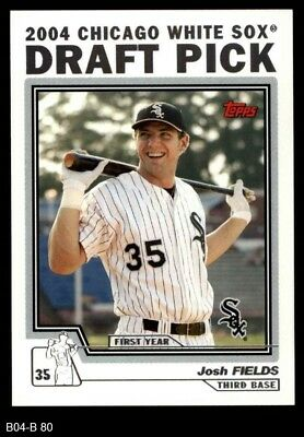 2004 Topps Traded #80 Josh Fields T White Sox NM/MT